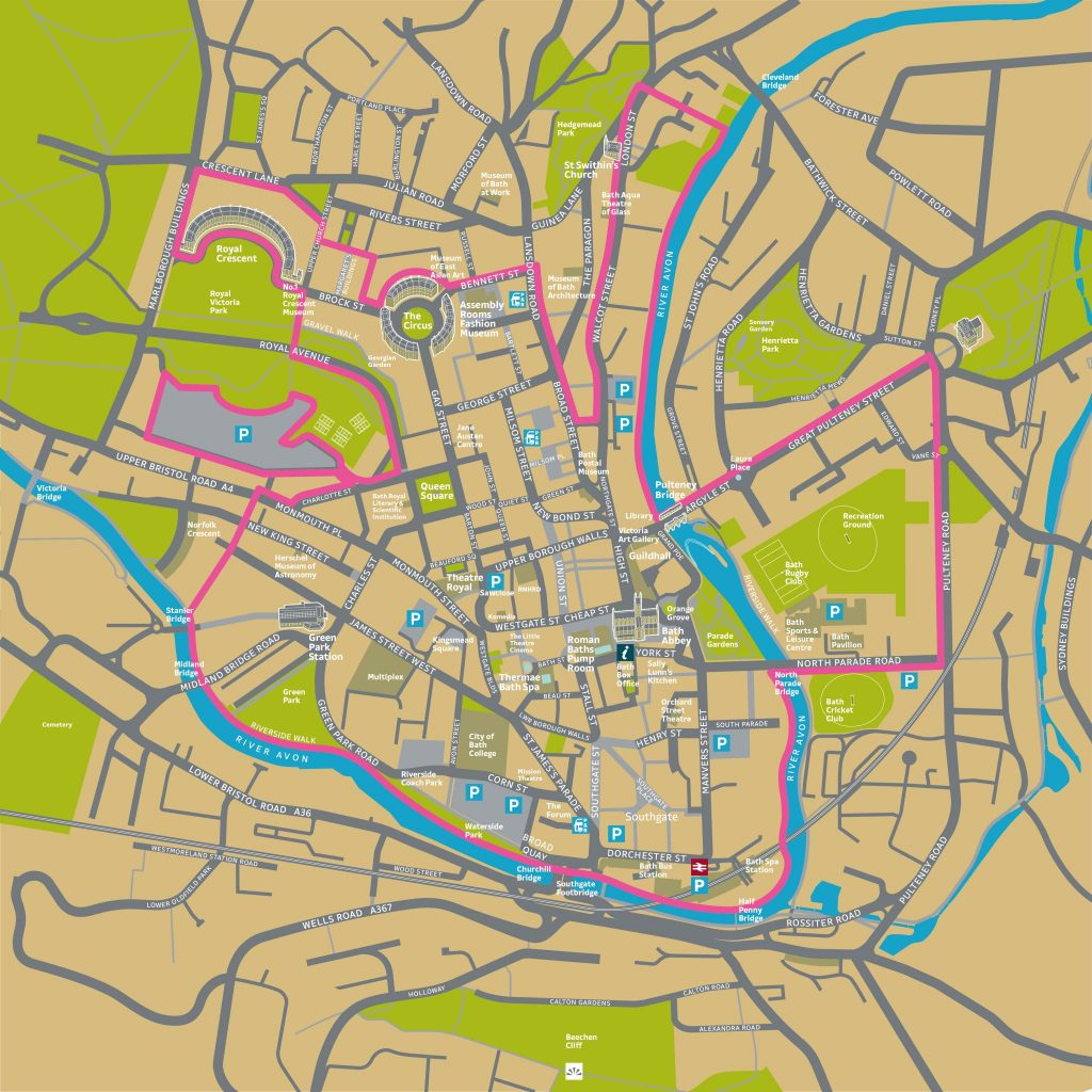 Bath BID Area Map