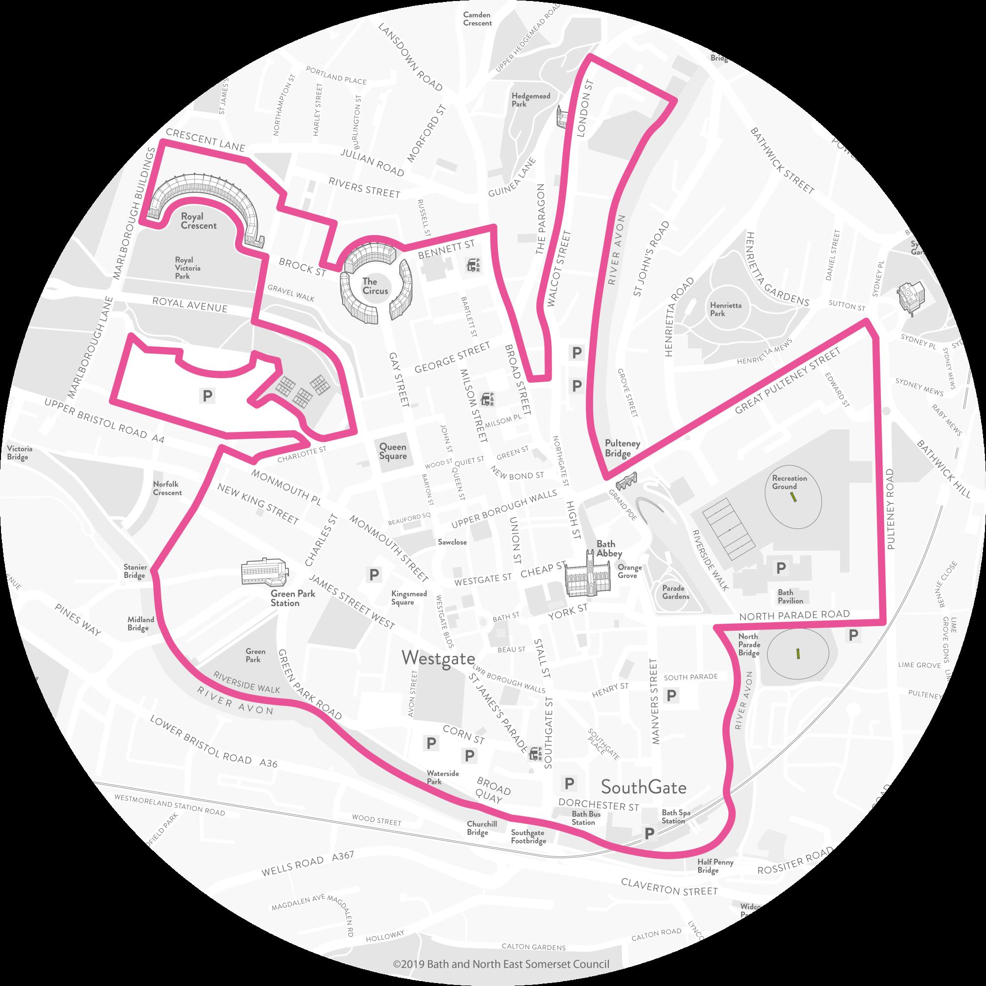 Bath BID Area Map